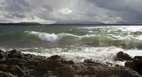 Yellowstone Lake wind storm - October 2012